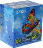 TDK Mini DV high quality 60 minute tape - 10 pack of tapes (minidv)